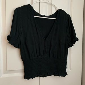 Abercrombie Black Blouse